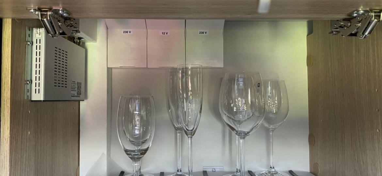 Bicchieri magnetici per il camper