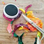 ritaglio del materiale essiccato in eccedenza 1 150x150 - Magneti artistici colorati