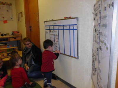 I bambini imparano a usare i magneti